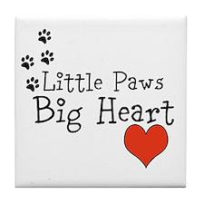 Little Paws Big Heart Tile Coaster