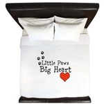 Little Paws Big Heart King Duvet