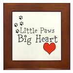 Little Paws Big Heart Framed Tile