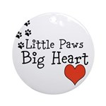 Little Paws Big Heart Round Ornament