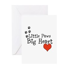 Little Paws Big Heart Greeting Cards