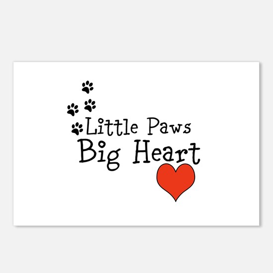 Little Paws Big Heart Postcards (Package of 8)