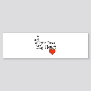 Little Paws Big Heart Bumper Sticker
