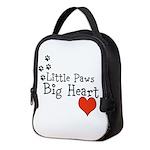 Little Paws Big Heart Neoprene Lunch Bag