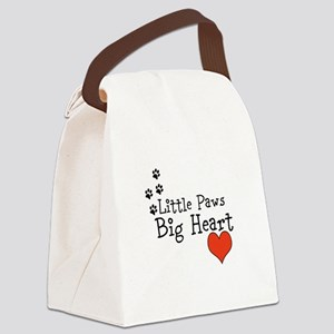 Little Paws Big Heart Canvas Lunch Bag
