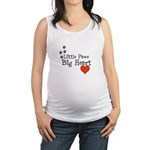 Little Paws Big Heart Maternity Tank Top
