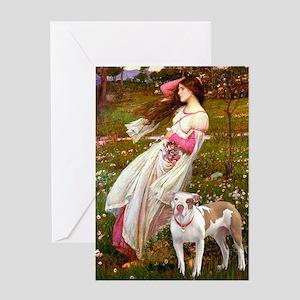 Windflowers / Pitbull Greeting Card