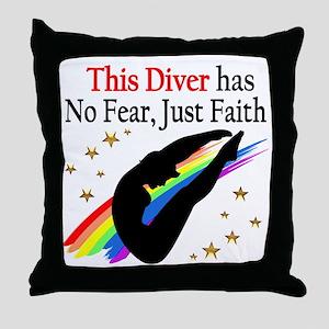 BEST DIVER Throw Pillow