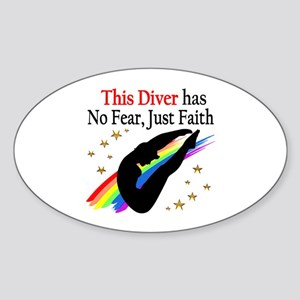 BEST DIVER Sticker (Oval)