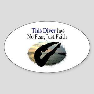 BEST DIVER Sticker (Oval)