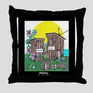 Outhouse Series/Family Affair Throw Pillow