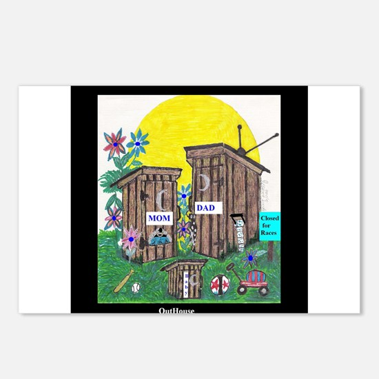 Outhouse Series/Family Affair Postcards (Package o
