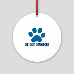 petit basset griffon vendeen Dog De Round Ornament