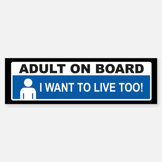 Adult On Board Bumper Bumper Bumper Sticker