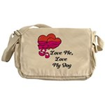 Love Me, Love My Dog Messenger Bag