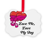 Love Me, Love My Dog Ornament