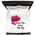 Love Me, Love My Dog King Duvet