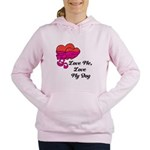 Love Me, Love My Dog Women's Hooded Sweatshirt