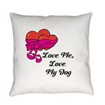 Love Me, Love My Dog Everyday Pillow