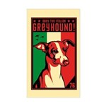 Obey the Italian Greyhound! Rectangle Sticker