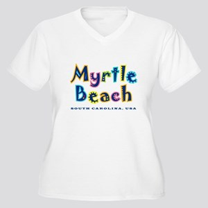 MB Tropical Type - Women's Plus Size V-Neck T-Shi