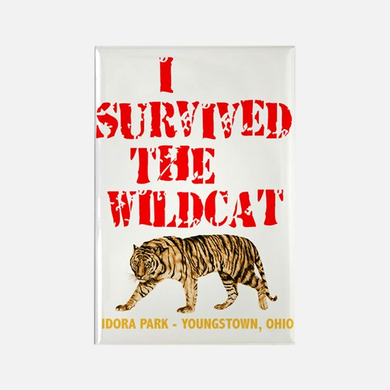 I survived the Wildcat! Rectangle Magnet