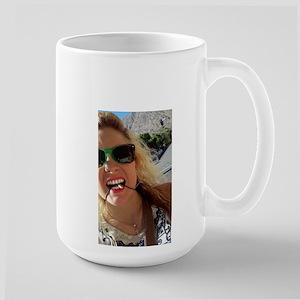 American Blonde Woman Smart Us Girl Large Mug Mugs
