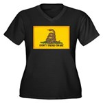 Don't Tread on Me! Women's Plus Size V-Neck Dark T