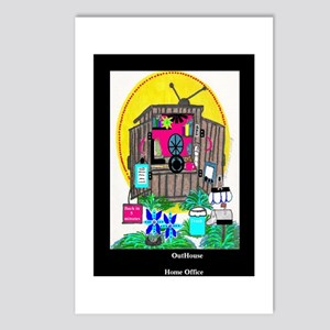 Outhouse Series/Home Office Postcards (Package of