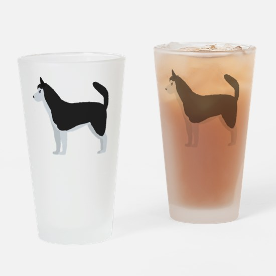 Husky cartoon Drinking Glass