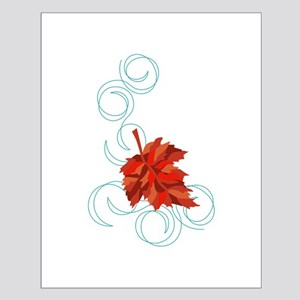 Swirling Fall Leaf Posters