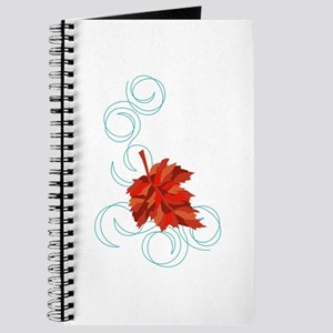 Swirling Fall Leaf Journal