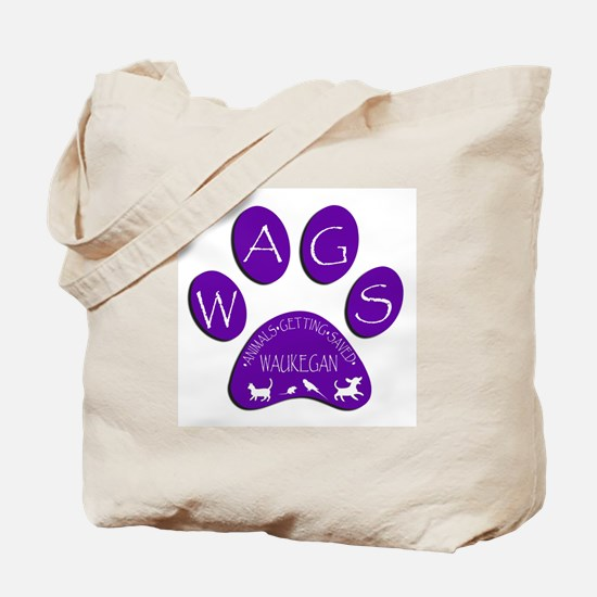 WAGS Paw Print Tote Bag