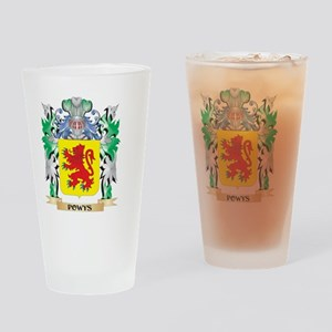 Powys Coat of Arms - Family Crest Drinking Glass