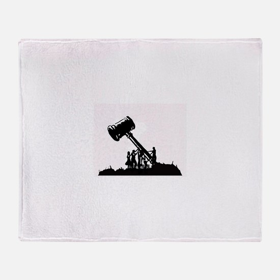 Cute Disadvantaged Throw Blanket