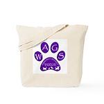 WagsLogo1_Purple Tote Bag