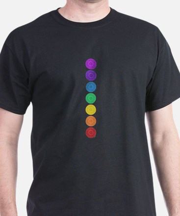 seven chakras vertical center T-Shirt