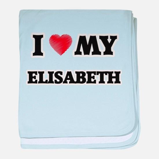 I love my Elisabeth baby blanket