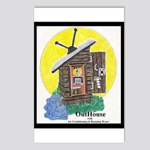 Outhouse/Air/Running Water Postcards (Package of 8
