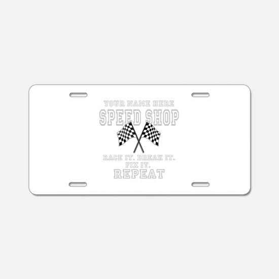 Racing Speed Shop Aluminum License Plate