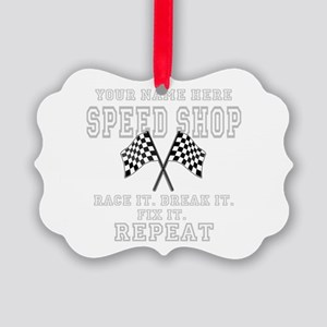 Racing Speed Shop Ornament