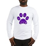 WagsLogo1_Purple Long Sleeve T-Shirt