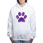 WagsLogo1_Purple Women's Hooded Sweatshirt