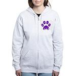 WagsLogo1_Purple Zip Hoodie