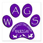 WagsLogo1_Purple Square Car Magnet 3