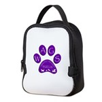 WagsLogo1_Purple Neoprene Lunch Bag