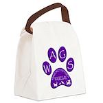 WagsLogo1_Purple Canvas Lunch Bag