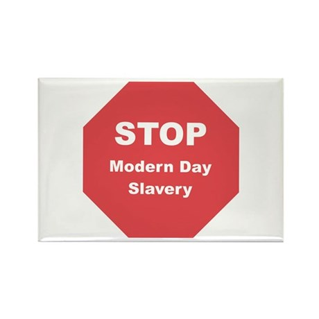 STOP Modern Day Slavery Rectangle Magnet (100 pack