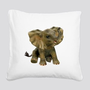 Beautiful African Baby Elephant Square Canvas Pill