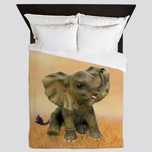 Beautiful African Baby Elephant Queen Duvet
